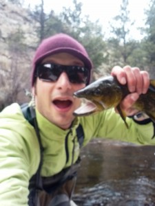 Jay Getzel, Mountainsmith, Spirit 12, backpack, mountainlight, brown trout big thompson river, estes park, colorado, fly fishing