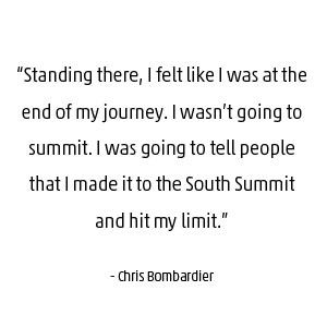Chris Bombardier quote about Everest