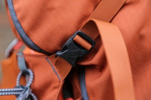 embossed clip on the Mountainsmith Mayhem 35 backpack