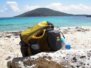 The Mountainsmith Scream and Cyber on Playa Carlos Rosario on the island of Culebra