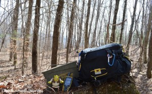 The Mountainsmith Tour FX lumbar pack is used for geocaching