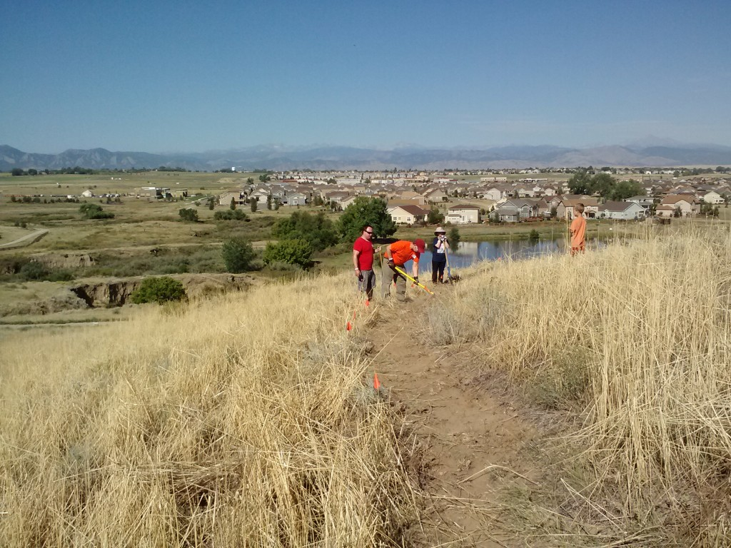A great view of the Colorado Front Range, looking west from the new trail system in Erie, CO.