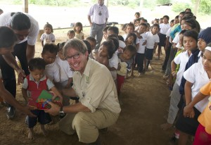 Dean Jacobs with children of the Achuar Nation