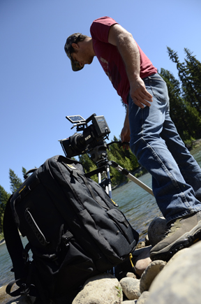 Nelson Carayannis shooting with the RED epic camera.