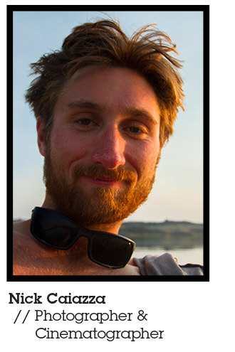 Nick Caiazza, Member of the Blackwater Drifters 2014 Expedition, photographer, cinematographer, Mountainsmith Ambassador.  Pictured with black sunglasses around his neck on the river.