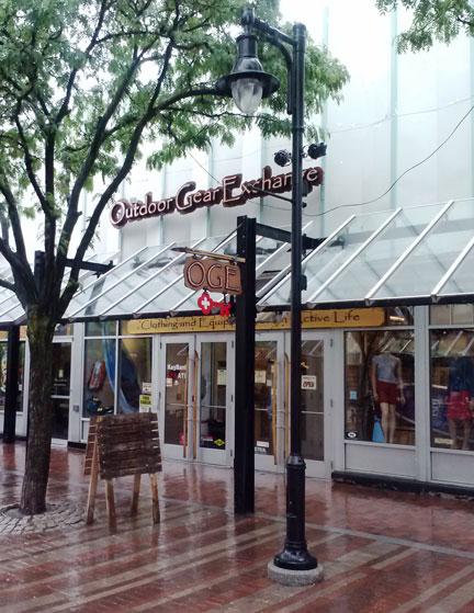 Outdoor Gear Exchange's great new store right on Church Street in downtown Burlington, VT OGE!