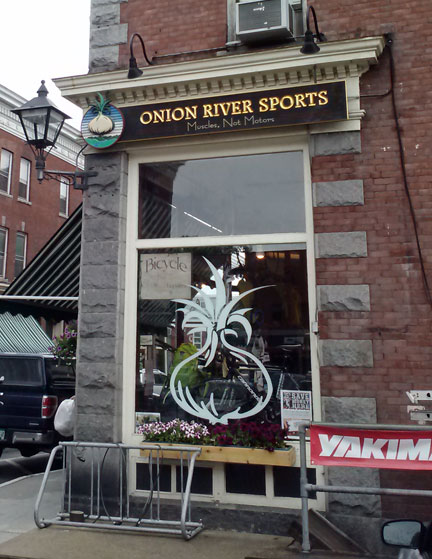 Onion River Sports on a rainy New England day in Montpelier, VT (the smallest state capital in the country I'm told)…