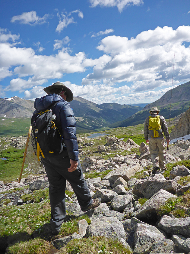 hikers in Colorado with Mountainsmith Scream 25 backpacks