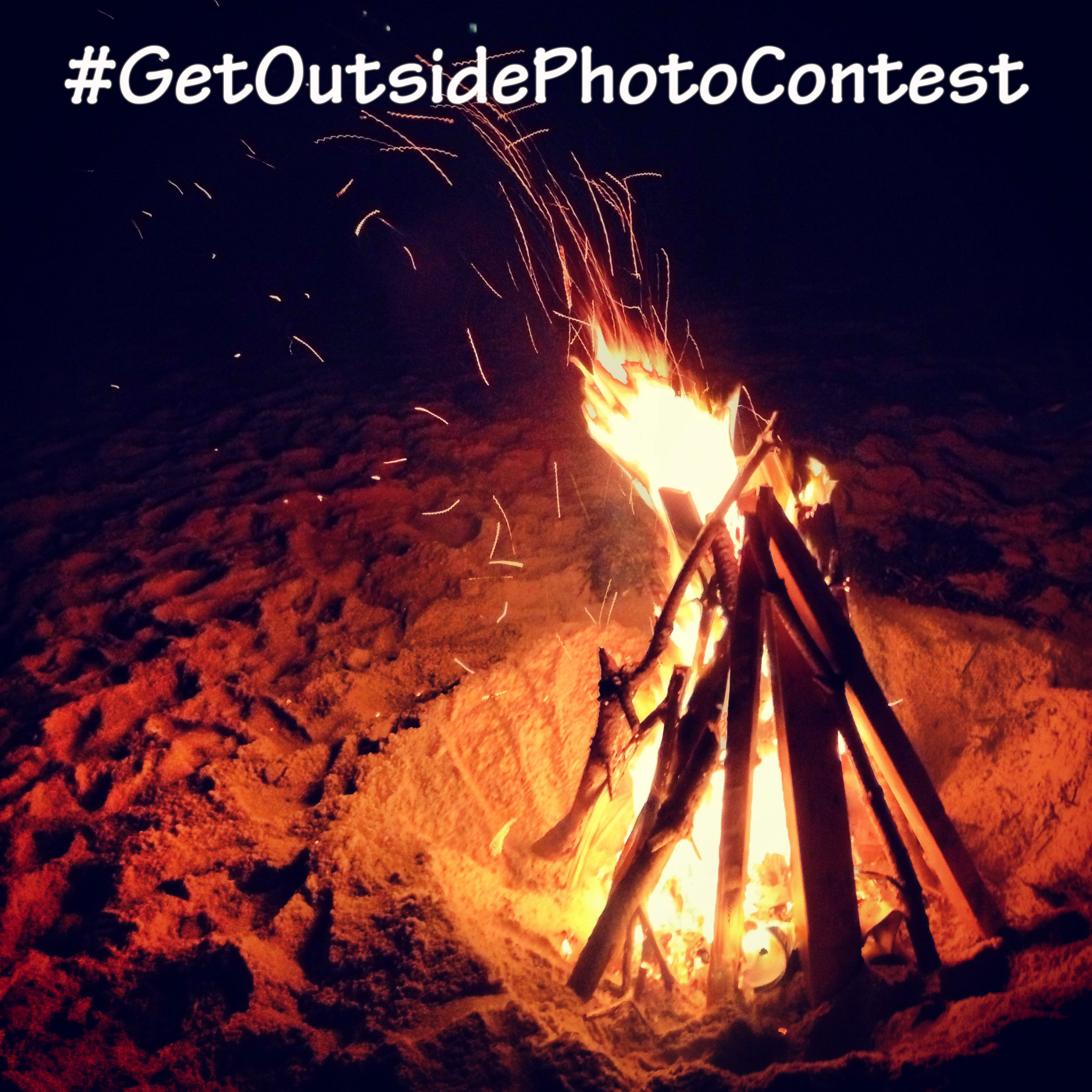 Beach bonfire in Cape Cod, MA with #getoutsidephotocontest