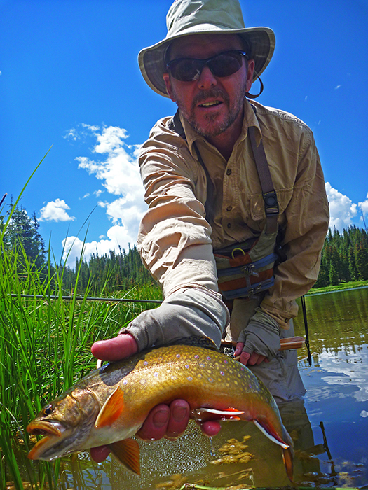 Shawn with the biggest brook trout of the trip