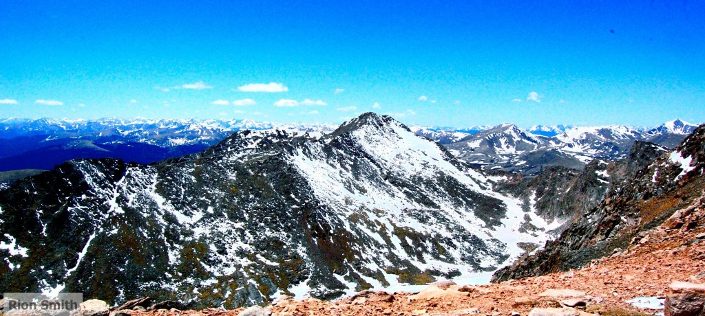 Summit in the rocky mountains