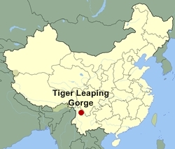 Map of China and Tiger Leaping Gorge