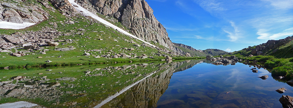 Unnamed lake in the Colorado high country, photo taken by Mountainsmith Ambassador Jonathan Hill