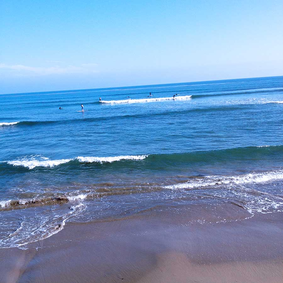 Checking out one of the famous point breaks in Ventura. Slow small waves make for a great long board break.