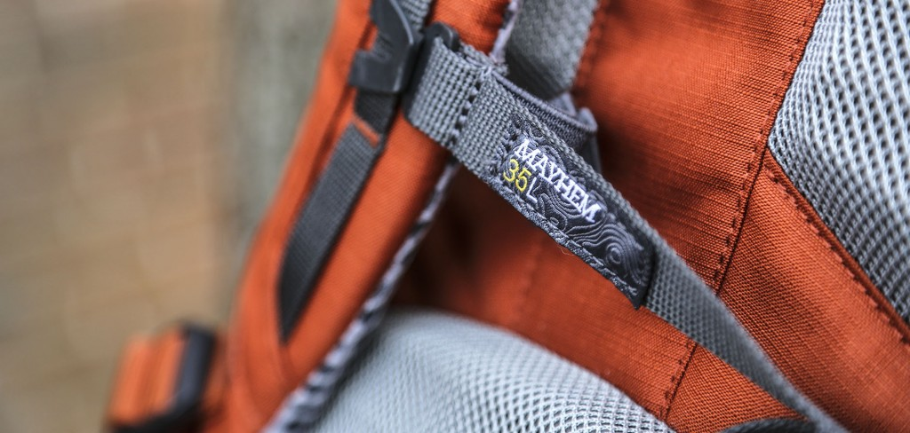 sternum strap of the Mountainsmith Mayhem 35 backpack