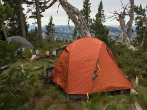 The Mountainsmith Mountaindome tent ready for a 2 am wake up to summit Mt. Tallac