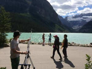 Shooting the crowds of people at Lake Louise, AB