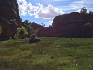 The Matrix on a private canyon in Kanab Utah.