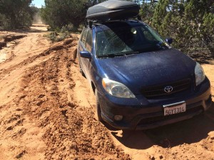 """""""Theres no way your car will make there"""" Alright watch me... Obviously didn't make it through the sand."""
