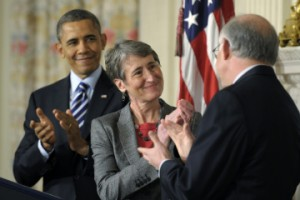 President Obama nominated Sally Jewell, CEO of REI, to Secretary of the Interior on February 6, 2013.