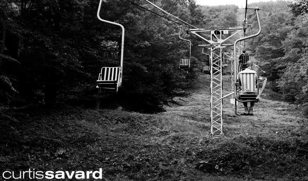 the single chair of mad river glen in the summer