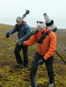 Andy on location in Franz Josef Land