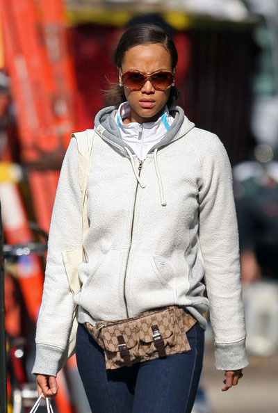 Tyra Banks wears a fanny pack